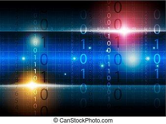 tecnologia, fundo, digital