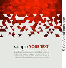 tecnologia, fundo, triangulo, abstratos