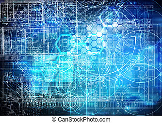 tecnologia, futurista, fundo