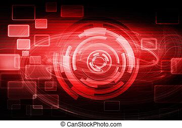 tecnologia, futuristico, fondo
