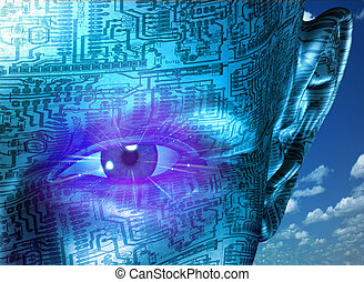 tecnologia, human