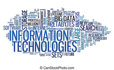tecnologia informação, em, tag, nuvem
