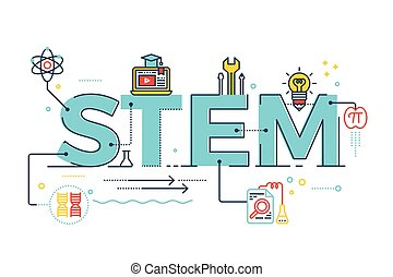 tecnologia, ingegneria, -, scienza, gambo, matematica