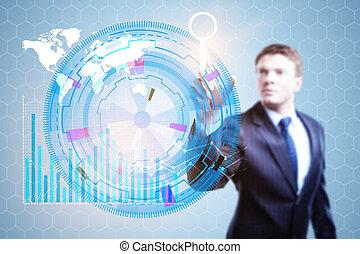 tecnologia, inovação, e, futuro, conceito