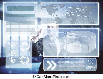tecnologia, inovação, e, usuário, conceito