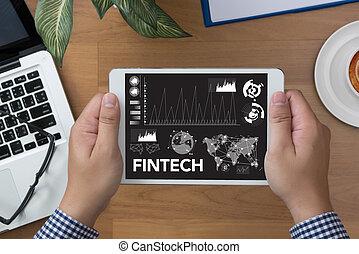 tecnologia,  Internet, financeiro, investimento,  fintech