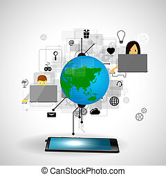 tecnologia, internet