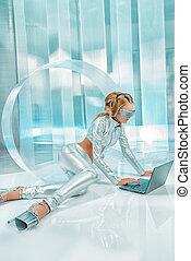 tecnologia, laptop
