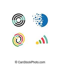 tecnologia, logotipo, affari
