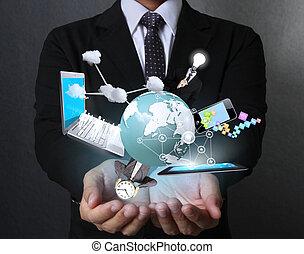 tecnologia, mani
