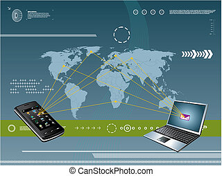 tecnologia, mobile, fondo