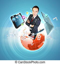 tecnologia moderna, ilustração