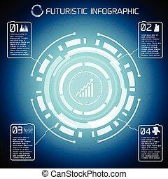 tecnologia moderna, virtual, infographics