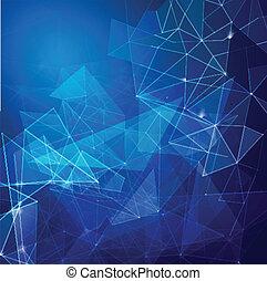 tecnologia, negócio, abstratos, malha, fundo, rede