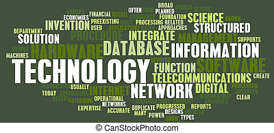 tecnologia, parola, nuvola
