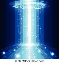 tecnologia, telecom, abstratos, vetorial, fundo, futuro, elétrico
