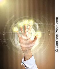 tecnologia, virtuale, affari