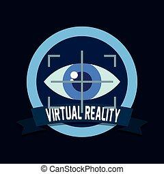tecnologia, vista, olho, realidade virtual