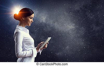 tecnologias, conectando, mundo