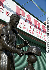 Ted Williams Statue in Boston's Fenway Park.