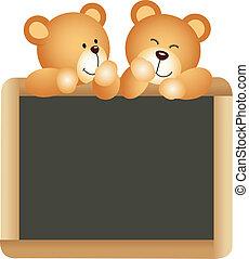 Teddies School Board - Scalable vectorial image representing...