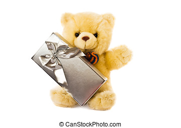 Teddy and gift