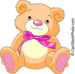 Teddy Bear - A rough, painterly child's teddy bear