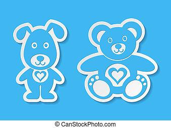 Teddy bear and dog