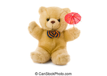 Teddy bear and parasol