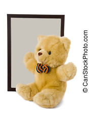 Teddy bear and photo frame