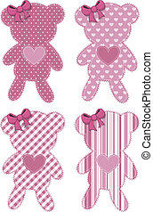 teddy bear applique baby girl