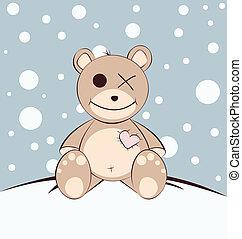 Teddy bear - baby card