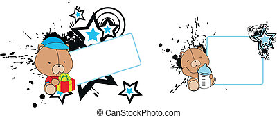 teddy bear baby cartoon copyspace