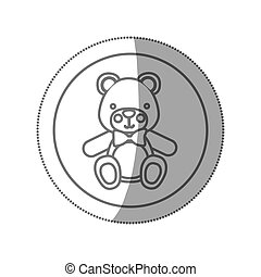 teddy bear baby icon