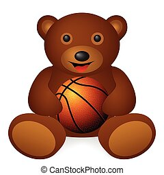 bear basketball ball