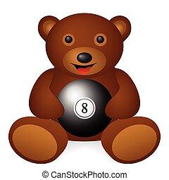 bear billiards ball