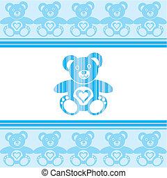 Teddy bear - blue teddy bear with teddy bears around