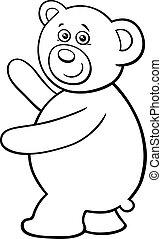 teddy bear cartoon character coloring book