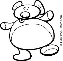teddy bear cartoon coloring page