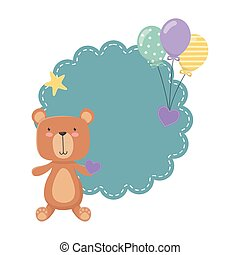 Teddy bear cartoon design vector illustration