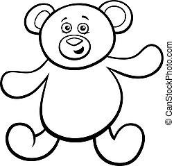 teddy bear cartoon toy character color book