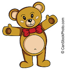 teddy bear cartoon vector