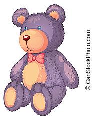 teddy bear - illustration of a teddy bear on a white...