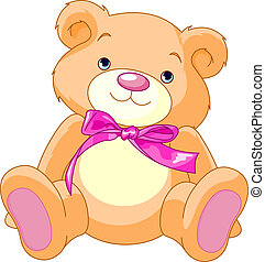 Teddy Bear - A rough, painterly child\'s teddy bear