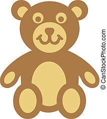 Teddy bear comic icon