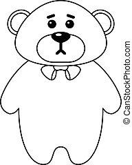 Teddy bear, contours