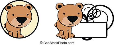teddy bear cute baby cartoon sticke