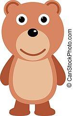 Teddy bear flat icon