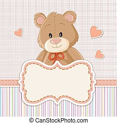 Teddy bear for baby . Baby shower