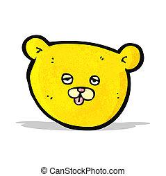 teddy bear head cartoon